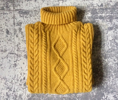 Mens Cable Knit Lambswool Jumper
