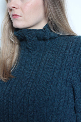 Womens Cable Knit Jumper
