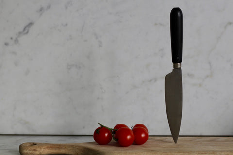 Carbon Steel Ebony Handled knife