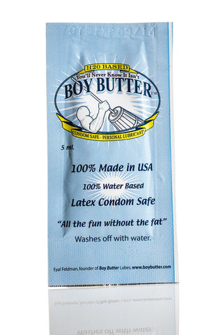 Boy Butter H2O Formula Single Use Packet