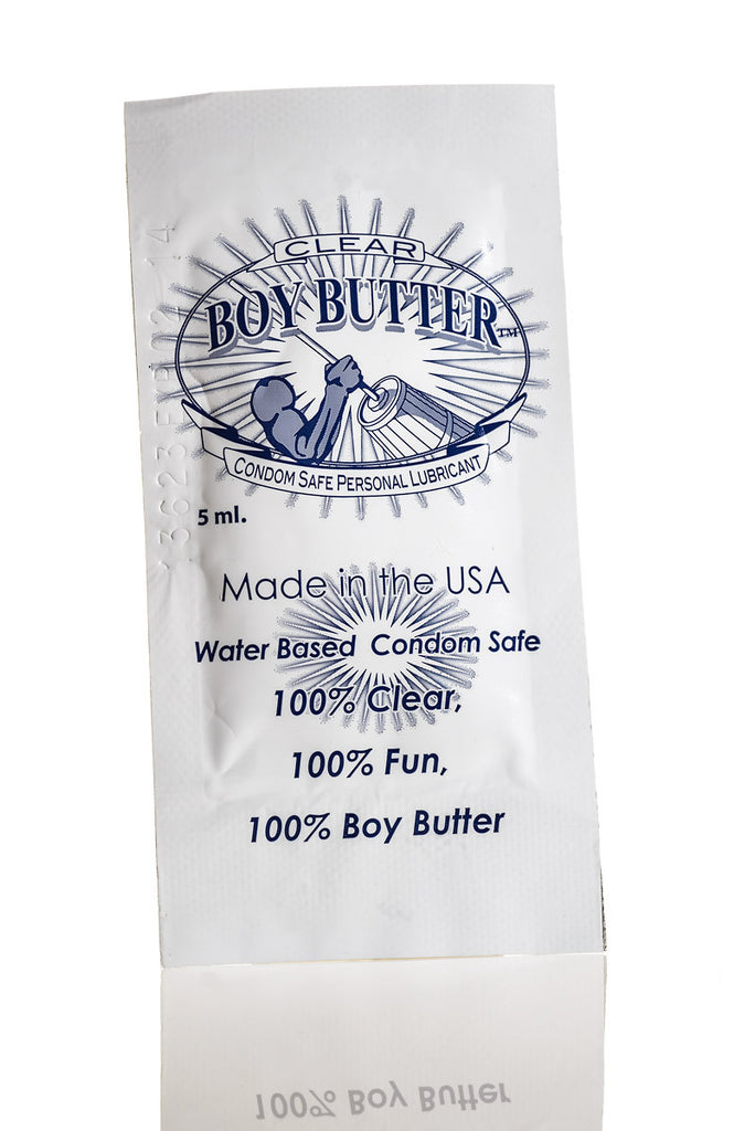 Boy Butter Clear Formula Single Use Packet