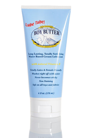 Lube Tube ~ Boy Butter H2O Formula 6 oz