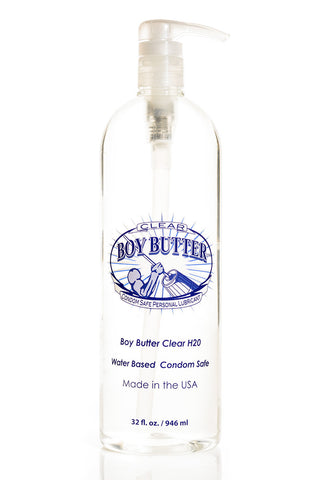 Boy Butter Clear Formula 32 oz - Super Size Pump