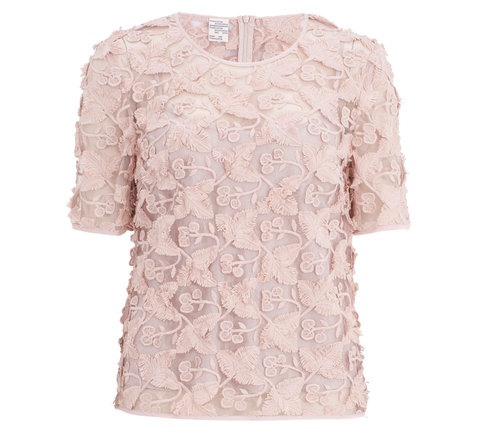 A beautiful 3-D lace effect top, the Mariola is available in a rose pink... click for more information