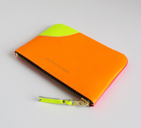 All new neon colours are in! The Zip wallet in super fluro light orange ... click for more information