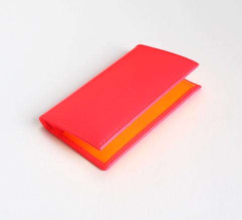 The Card Holder with a super fluro pink exterior has a pop of colour ins... click for more information