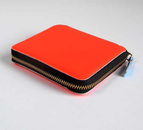 This wallet in super fluro orange is a classic design, with a 3-sided zi... click for more information