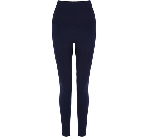 The Eleven is a full-length, high rise navy legging with breathable mesh... click for more information