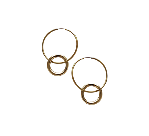 The Brass hoop earrings have a plated ring detail making this a new var... click for more information