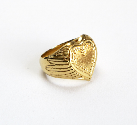 The Heavy Heart ring is a beautiful sovereign design with a large heart... click for more information