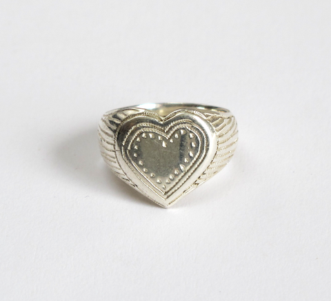 The Heavy Heart ring is a beautiful sovereign design with a large heart ... click for more information