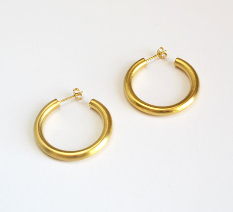 9e127cdce Sold out · New gold hoops from Danish designer Pernille Corydon, the Alpha  is a wid.