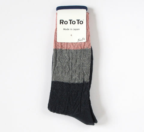 A new design, the Rototo Crazy Cable socks are a play on traditional cab...                        click for more information