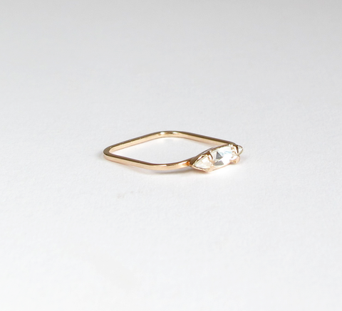 A superfine ring by designer Sabrina Dehoff, the Eye ring holds a slim c... click for more information