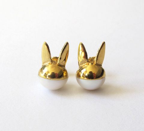 We love this updated version of Benedicte's pearl rabbit earrings. This ... click for more information