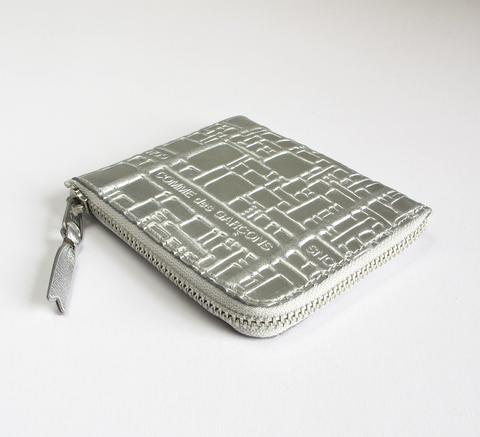 The new metallic embossed design is in! The Zip Wallet in silver opens a... click for more information