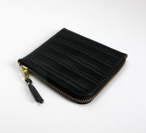 The Black Stitched Wallet in embossed black leather with complimentary s... click for more information