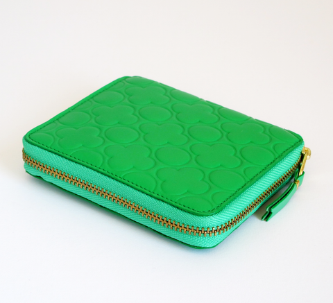 The Wallet in embossed green is a classic design, with a 3-sided zip i... click for more information