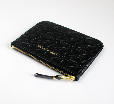 The Zip wallet in embossed black is a simple pouch in soft leather with ... click for more information