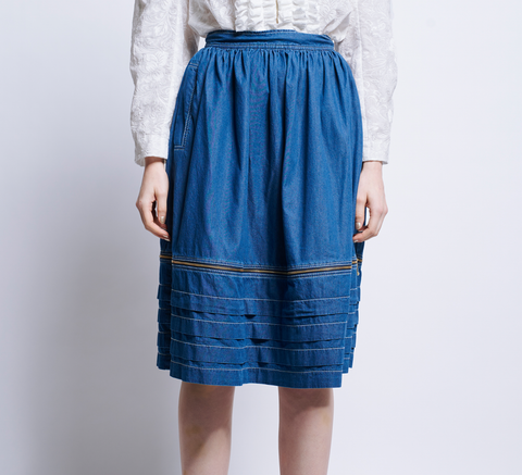 The Sokol Zip Skirt is an easy to wear midi-length design in a lightweig... click for more information