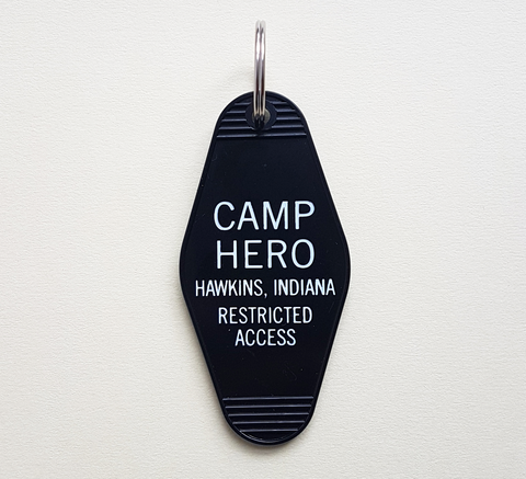 For Stranger Things fans here's a Camp Hero key ring! Made in the USA Si... click for more information