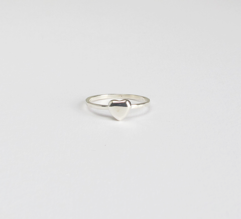 Part of the Stacker series, Meadowlark's Heart ring is a sterling silver... click for more information