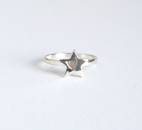 Part of the Stacker series, Meadowlark's Star ring is a sterling silver ... click for more information
