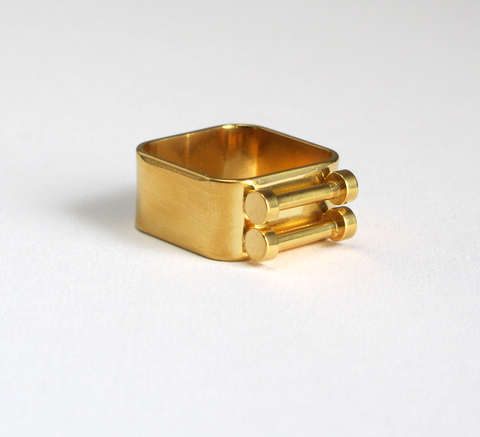 A new ring by designer Sabrina Dehoff, the Double Track ring features tw... click for more information
