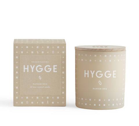 Hygge means 'cosiness' and the frosted glass that encases this candle co... click for more information