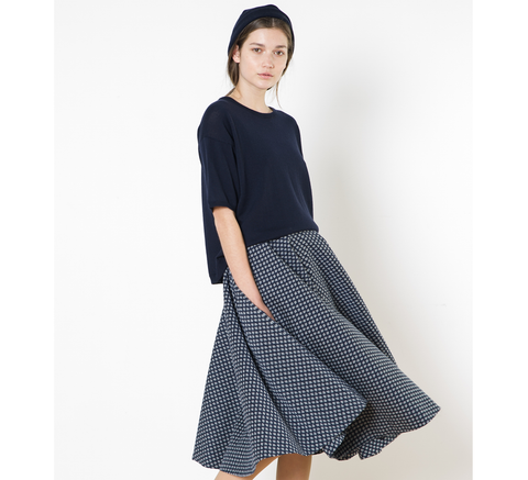 An incredible circle skirt cut, the Carol Ann design  Material: 67% cot... click for more information