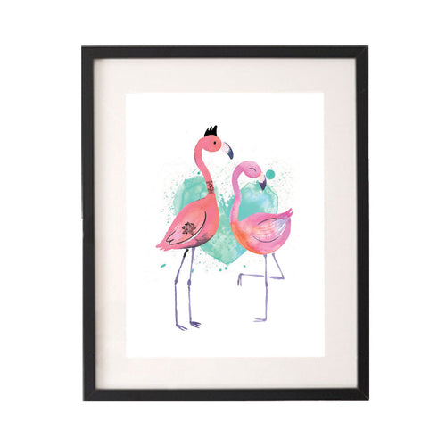 Flamingo Love Printable or Downloadable Wall Art Print-onesie-baby-Little Misfits-tattoo-sleeves-trendy-baby-clothes-for-boys-girls-toddler