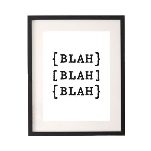 Blah Blah Blah Printable or Downloadable Wall Art Print-onesie-baby-Little Misfits-tattoo-sleeves-trendy-baby-clothes-for-boys-girls-toddler