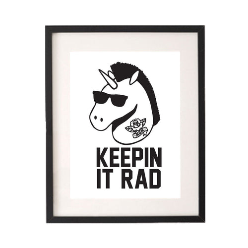 Keeping It Rad Unicorn Printable or Downloadable Wall Art Print-onesie-baby-Little Misfits-tattoo-sleeves-trendy-baby-clothes-for-boys-girls-toddler