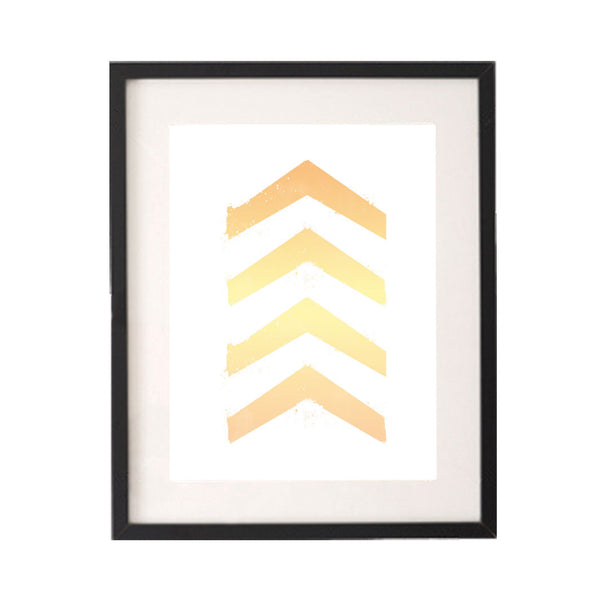 Ombre Watercolour Yellow Orange Chevron Printable or Downloadable Wall Art Print-onesie-baby-Little Misfits-tattoo-sleeves-trendy-baby-clothes-for-boys-girls-toddler
