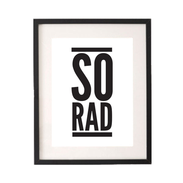 So Rad Printable or Downloadable Wall Art Print-onesie-baby-Little Misfits-tattoo-sleeves-trendy-baby-clothes-for-boys-girls-toddler