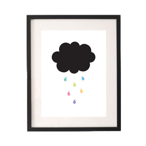 Cloud Raining Rainbow Drops Printable or Downloadable Wall Art Print-onesie-baby-Little Misfits-tattoo-sleeves-trendy-baby-clothes-for-boys-girls-toddler