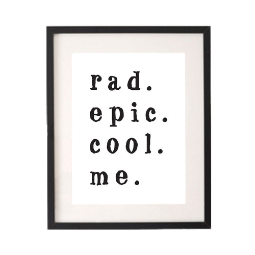 Rad Epic Cool Me Printable or Downloadable Wall Art Print-onesie-baby-Little Misfits-tattoo-sleeves-trendy-baby-clothes-for-boys-girls-toddler
