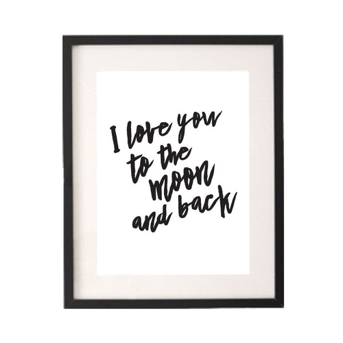 I Love You to the Moon and Back Printable or Downloadable Wall Art Print-onesie-baby-Little Misfits-tattoo-sleeves-trendy-baby-clothes-for-boys-girls-toddler