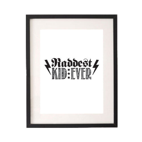 Raddest Kid Ever Printable or Downloadable Wall Art Print-onesie-baby-Little Misfits-tattoo-sleeves-trendy-baby-clothes-for-boys-girls-toddler