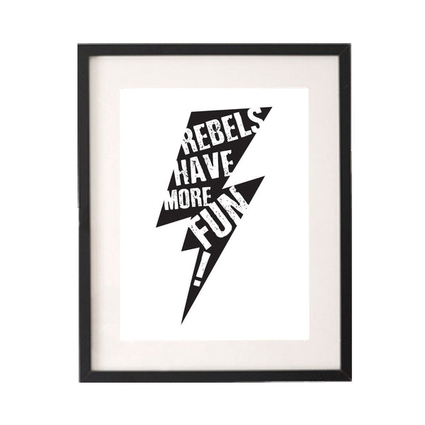 Rebels Have More Fun Lightening Bolt Printable or Downloadable Wall Art Print-onesie-baby-Little Misfits-tattoo-sleeves-trendy-baby-clothes-for-boys-girls-toddler