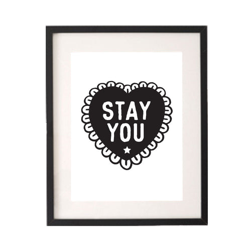 Stay You Printable or Downloadable Wall Art Print-onesie-baby-Little Misfits-tattoo-sleeves-trendy-baby-clothes-for-boys-girls-toddler