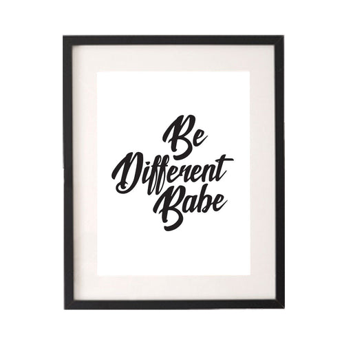 Be Different Babe Printable or Downloadable Wall Art Print-onesie-baby-Little Misfits-tattoo-sleeves-trendy-baby-clothes-for-boys-girls-toddler