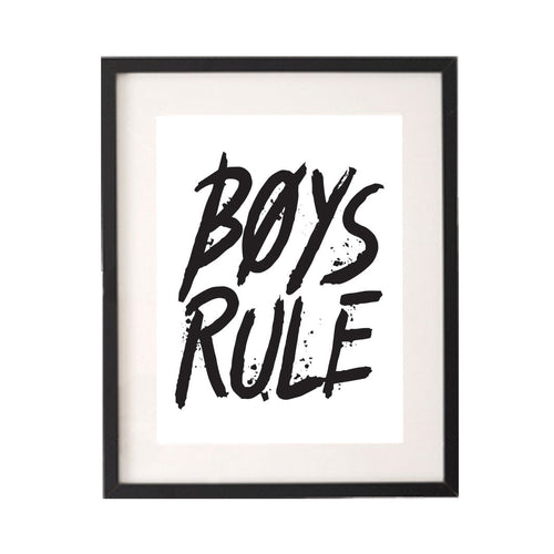 Boys Rule Printable or Downloadable Wall Art Print-onesie-baby-Little Misfits-tattoo-sleeves-trendy-baby-clothes-for-boys-girls-toddler