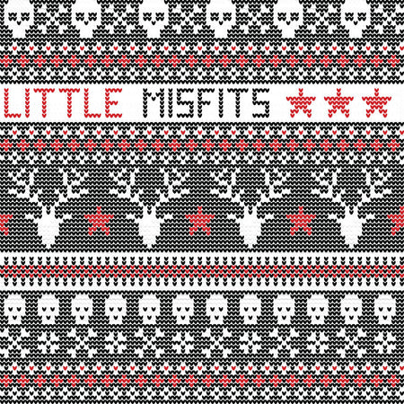 Grey Fair Isle Women's Skull Holiday Leggings – Little Misfits