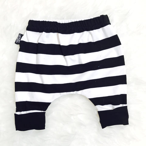 Red and White Striped Baby Christmas Harem Drop Crotch Pants / Baby Leggings