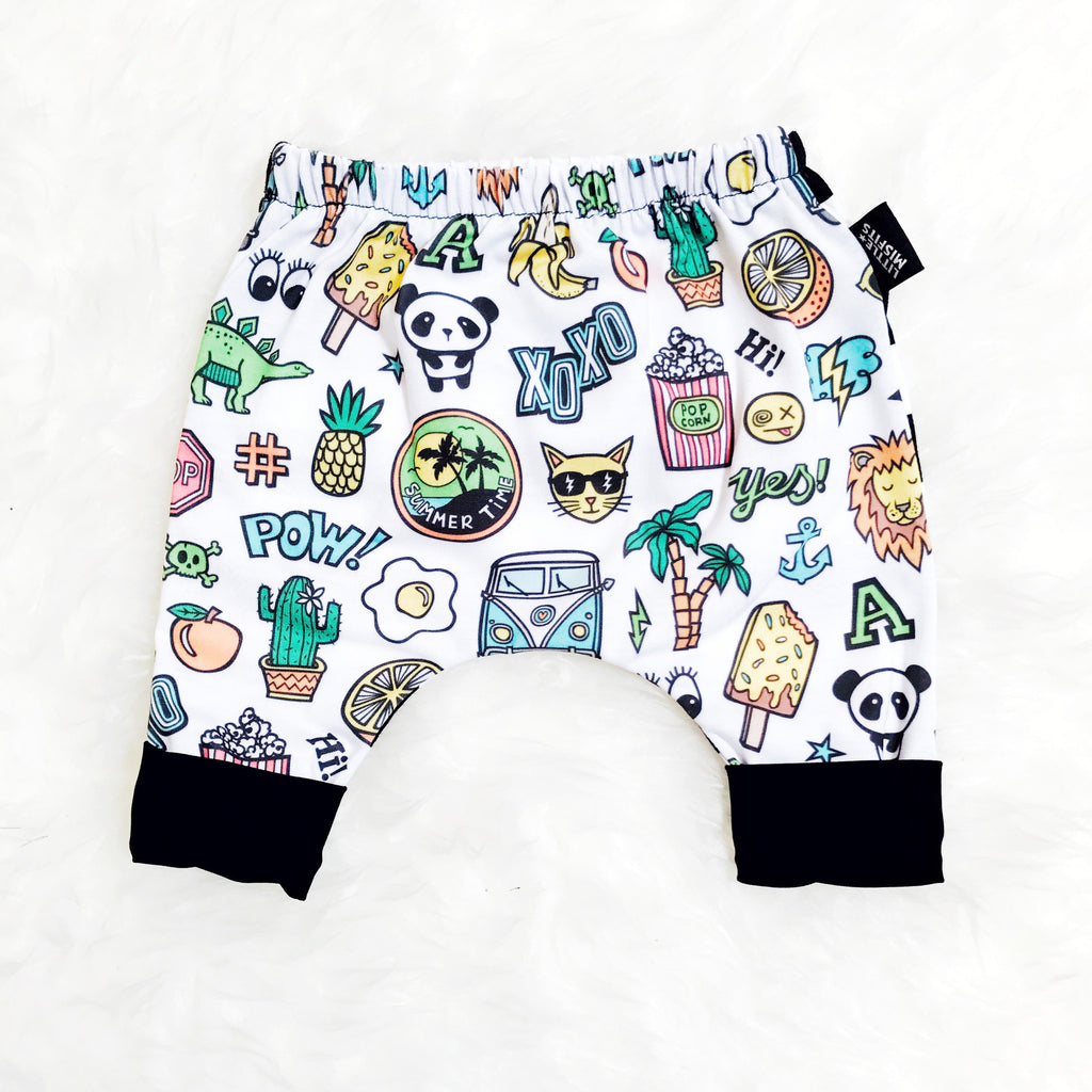 Cool Kid 90's-Inspired Baby or Kids Shorts-onesie-baby-Little Misfits-tattoo-sleeves-trendy-baby-clothes-for-boys-girls-toddler