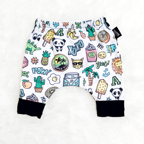 Awesome Cool Kid 90's-Inspired Baby or Kids Shorts-onesie-baby-Little Misfits-tattoo-sleeves-trendy-baby-clothes-for-boys-girls-toddler