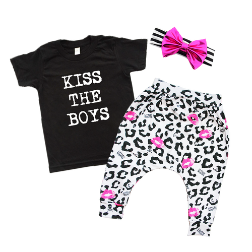 Kiss The Boys Baby Tee Product Bundle-onesie-baby-Little Misfits-tattoo-sleeves-trendy-baby-clothes-for-boys-girls-toddler