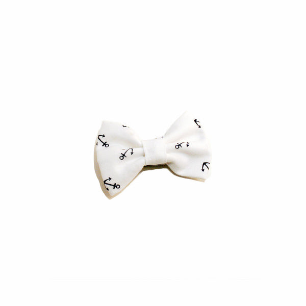 White Anchors - Prettylicious Hair Bows-onesie-baby-Little Misfits-tattoo-sleeves-trendy-baby-clothes-for-boys-girls-toddler
