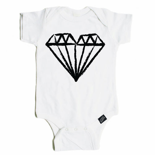 Diamond Heart Onesie-onesie-baby-Little Misfits-tattoo-sleeves-trendy-baby-clothes-for-boys-girls-toddler